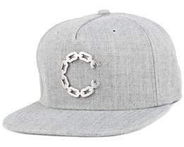 Thuxury Chain C Speckle Grey Strapback - Crooks & Castles