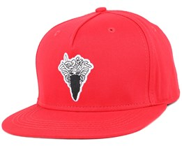 Medusa Patch True Red Snapback - Crooks & Castles