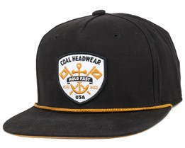 The Ebb Tide Black Snapback - Coal