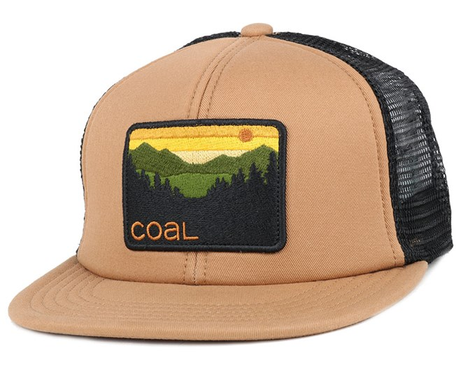 The hauler Light Brown Snapback - Coal