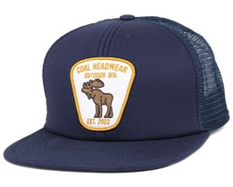 The Bureau Navy Snapback - Coal
