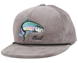 The Wilderness Grey Fish Snapback - Coal