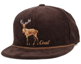 The Wilderness Brown Stag Snapback - Coal