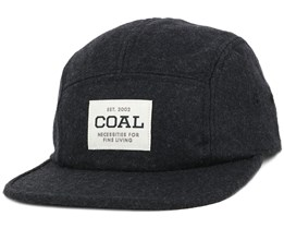 The Richmond Heather Black 5-Panel - Coal