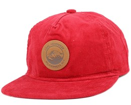 The Ned Red Strapback - Coal