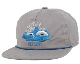 The Great Outdoors Grey Strapback - Coal