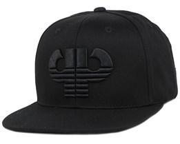 Icon Black/Black Snapback - Pelle Pelle