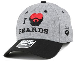 I Love Beards Grey/Black Flexfit - Bearded Man