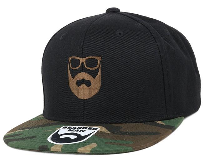 Logo Black/Camo Snapback - Bearded Man