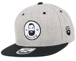 Beard´d Grey/Black Snapback - Bearded Man