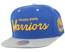 Golden State Warriors Heather Special Script - Mitchell & Ness