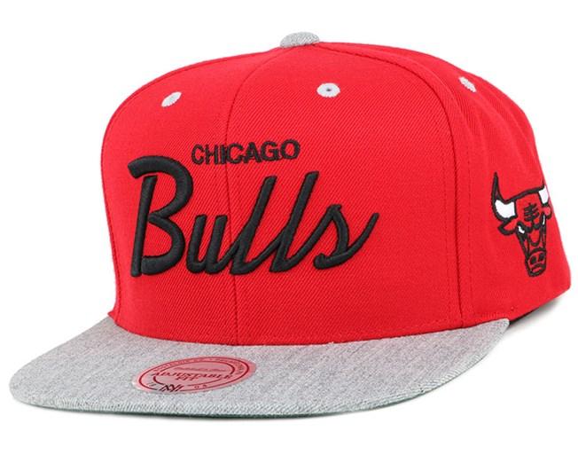 Chicago Bulls Heather Special Script Snapback - Mitchell & Ness