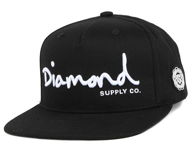 OG Script 2 Black Snapback - Diamond