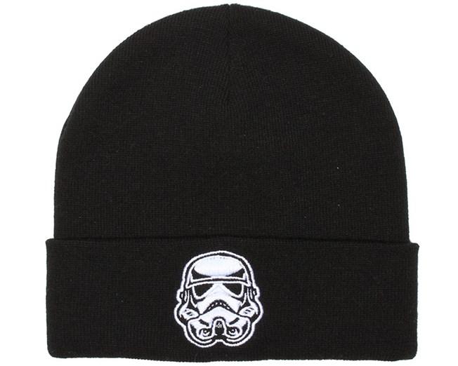 Trooper Head Black Beanie - Dedicated