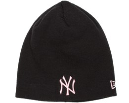 NY Yankees Skull Black/Pink Woman Beanie - New Era