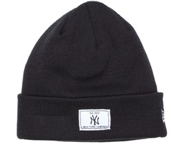 NY Yankees Patch Rectangle Beanie - New Era