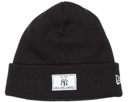 NY Yankees Patch Rectangle Black Beanie - New Era