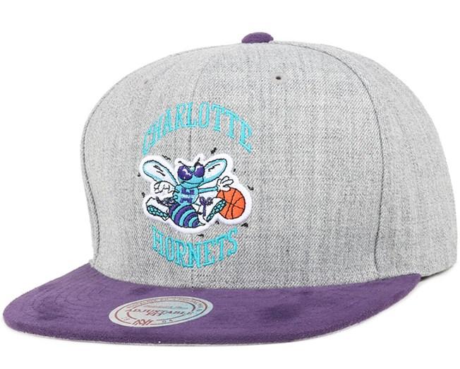 Charlotte Hornets Heather Micro Snapback - Mitchell & Ness