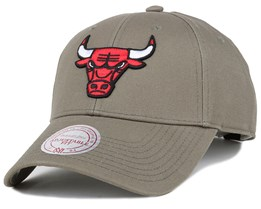 Chicago Bulls Low Pro Olive Adjustable - Mitchell & Ness
