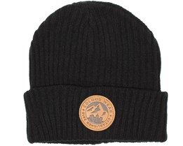 Badge Black Beanie - Colour Wear