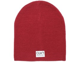 Rib Burgundy Melange Beanie - Colour Wear