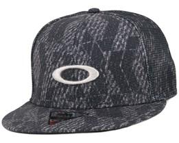 Mesh Sublimated Black Snapback - Oakley