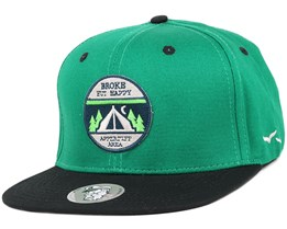 Broke Green/Black Snapback - Appertiff