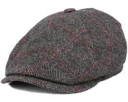 Oregon Wool Heringbone Brown Flat Cap - Stetson