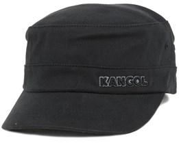 Cotton Twill Army Cap Black Flexfit - Kangol