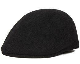 Seamless Wool 507 Black Flat Cap - Kangol