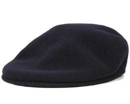 Wool 504 Dark Blue Flat Cap - Kangol