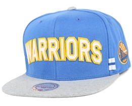 Golden State Warriors Royal/Grey Training Room Snapback - Mitchell & Ness