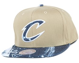 Cleveland Cavaliers Stained Denim Earthtone Snapback - Mitchell & Ness
