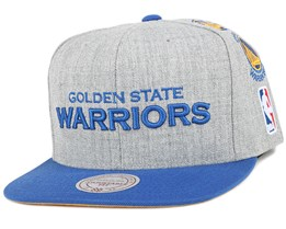 Golden State Warriors Team Logo History Grey Snapback - Mitchell & Ness