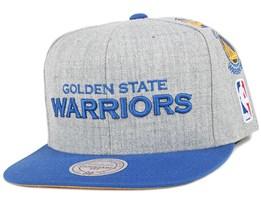 Golden State Warriors Team Logo History Grey Snapback - Mitchell & Ness
