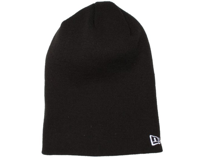 Essential Long Black Beanie - New Era