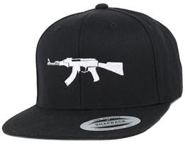 AK47 Black Snapback - GUNS n SKULLS
