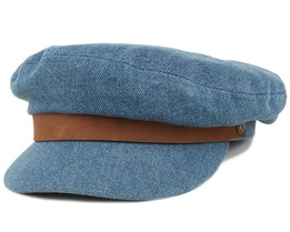 Fiddler Light Denim Flat Cap - Brixton