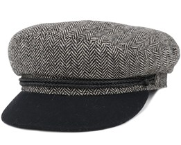 Fiddler Heather Grey/Black Flat Cap - Brixton