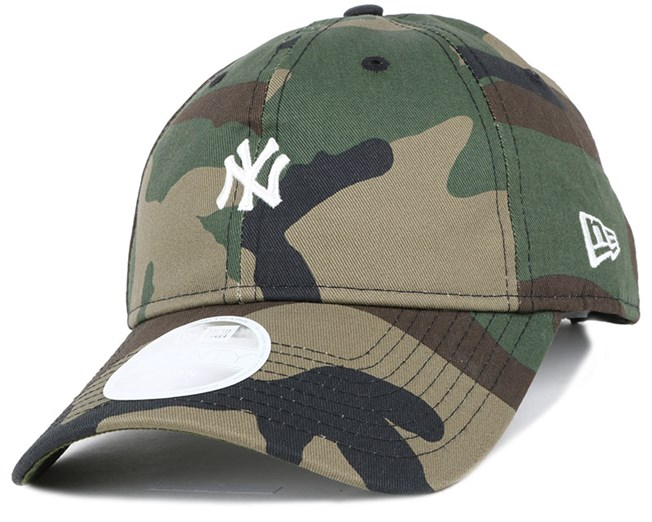 NY Yankees Mini Logo Essential Woman Camo 940 Adjustable - New Era