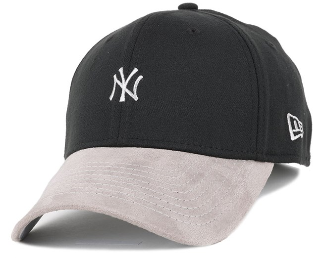 NY Yankees Suede Viz Mini Logo Black/Grey 39Thirty Flexfit - New Era