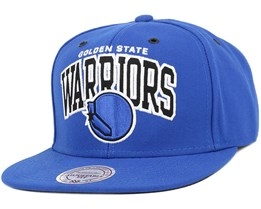 Golden State Warriors Black And White Arch Snapback - Mitchell & Ness