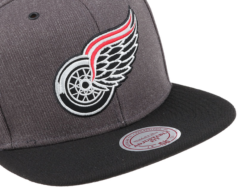 detroit red wings g3 logo snapback mitchell ness cap. Black Bedroom Furniture Sets. Home Design Ideas
