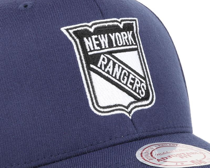 ny rangers black white logo 110 adjustable mitchell ness cap. Black Bedroom Furniture Sets. Home Design Ideas