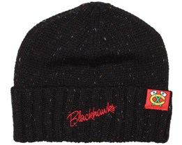 Chicago Blackhawks TC Heather Script Beanie - Mitchell & Ness