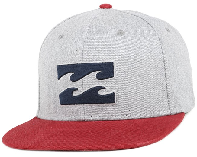 All Day Grey/Heather Red Snapback - Billabong