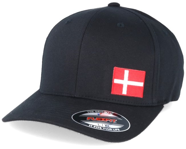 Denmark Flag Side Black Flexfit - Iconic