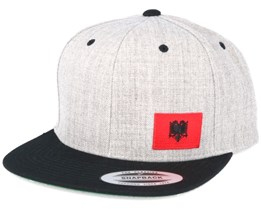 Albania Flag Side Heather/Black Snapback - Iconic