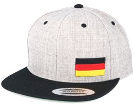 Germany Flag Side Heather/Black Snapback - Iconic