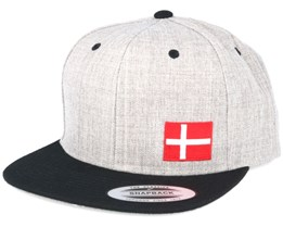 Denmark Flag Side Heather/Black Snapback - Iconic